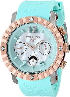 MULCO Unisex MW5-1876-413 Nuit Lace XL Analog Display Swiss Quartz Blue Watch