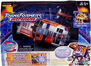 Transformers Armada Powerlinx Red Alert (Electronic Lights and Sounds, Orange Variant) with Powerlinx Longarm Mini-con