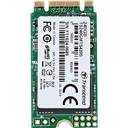 Transcend 3D TLC NAND採用 SSD 240GB M.2 2242 SATA-III 6Gb/s TS240GMTS420S