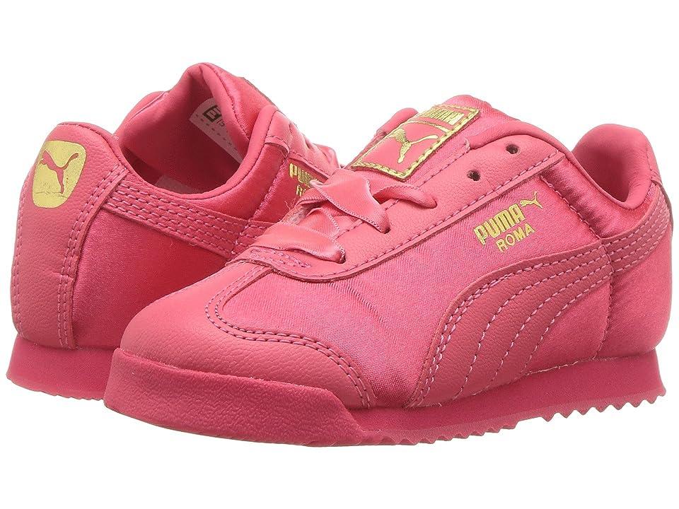Puma Kids Roma Satin INF (Toddler) (Paradise Pink/Puma Team Gold) Girls Shoes