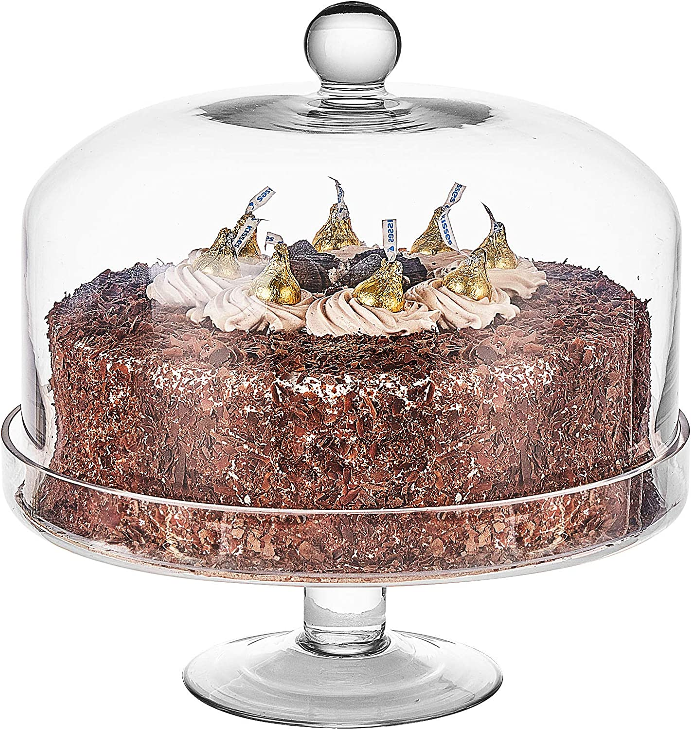 Handmade Clear Glass 倉庫 Cake 全商品オープニング価格 Stand Dome Multifunctional with Platte