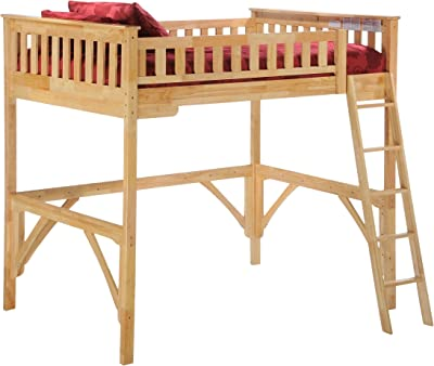 Night & Day Furniture Ginger Loft, natural finish, Full
