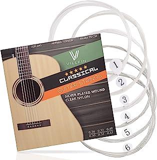 Gitarrensaiten von Villkin – Premium Nylon-Saiten für Klassische-, Konzert-&..