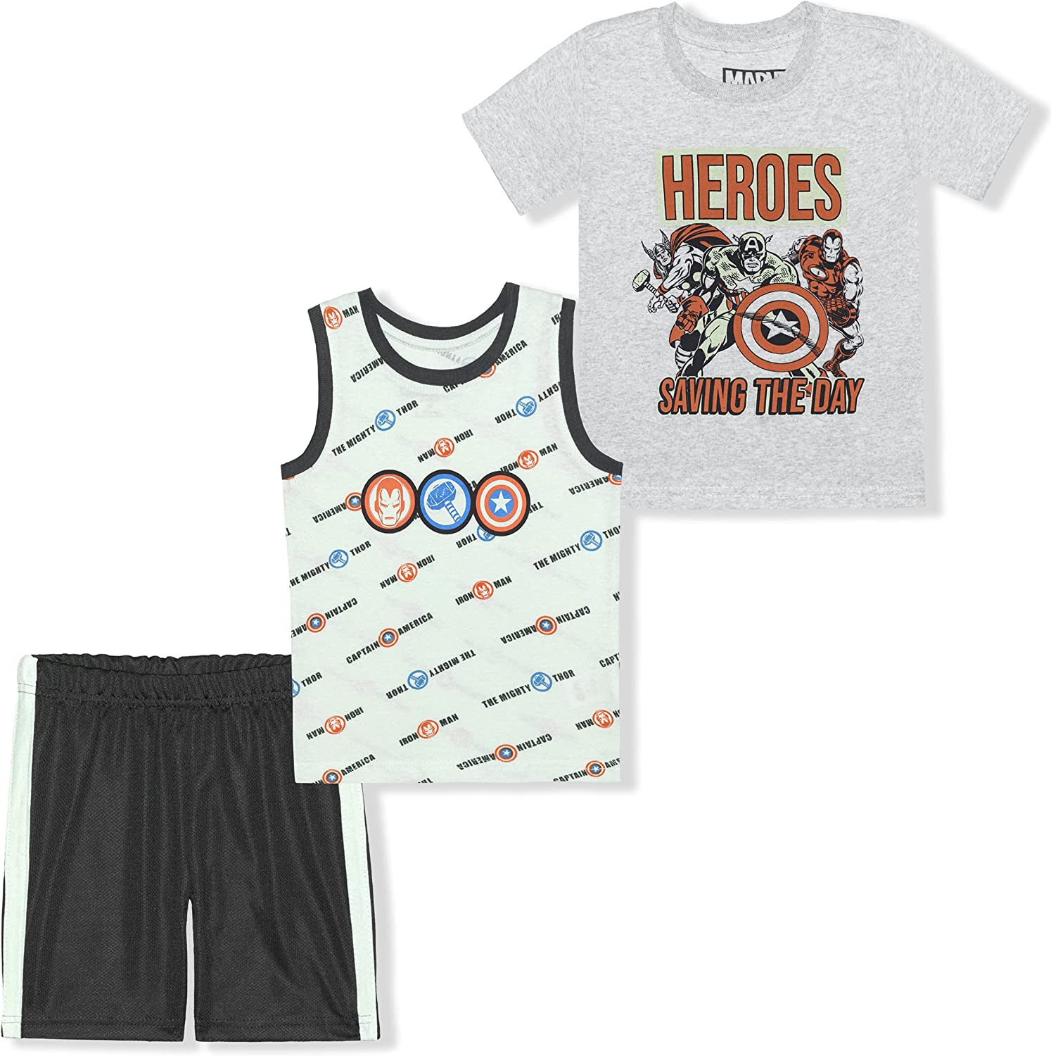 4 years High material warranty Marvel Heroes Boy's 3-Pack Saving Tee Shirt Sleeveless The Day