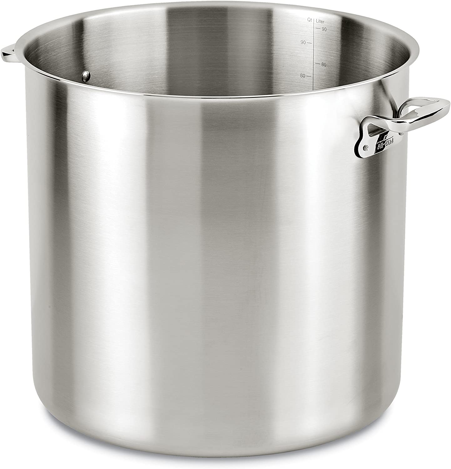 All-Clad E7497864 Stainless Fort Worth Mall Steel Silver quart Cheap super special price 100 Stockpot