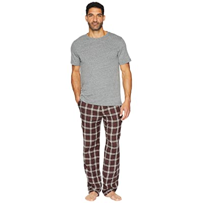 UGG Grant Woven Sleepwear Set (Port/Grey Heather) Men