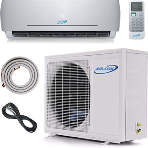 18000 BTU Mini Split Ductless Air Conditioner – 23 SEER - 12' Lineset & Wiring - 100% Ready to Install - Pre-Charged ...