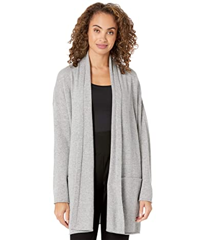 Eileen Fisher Italian Cashmere High Collar Cardigan (Moon) Women