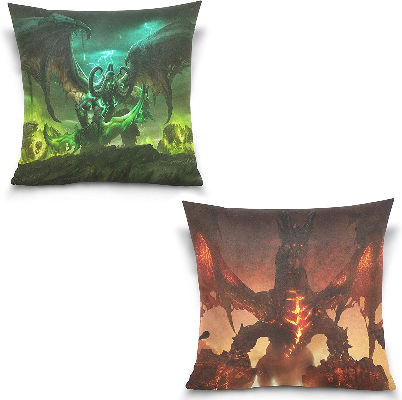 7. World of Warcraft Pillowcase Square - Set of 2
