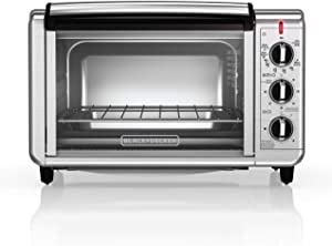 BLACK+DECKER TO3230SBD 6-Slice Convection Countertop Toaster Oven, Includes Bake Pan, Broil Rack & Toasting Rack, Stainless Steel Convection Toaster Oven (Renewed)