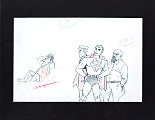 Superboy 1967-1968 Production Animation Cel Drawing Filmation Superman Aquaman
