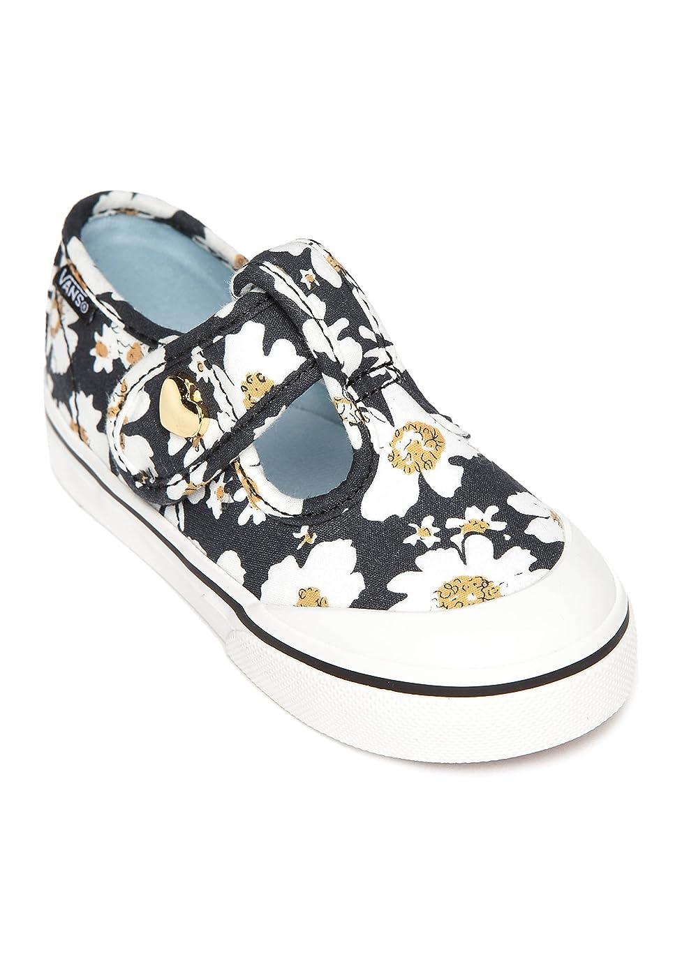 Vans Leena Daisy Black/Blue Toddler Girls Shoes