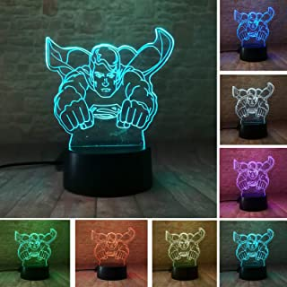 Fanrui DC Comics Justice League Superman Action Figure Hero 3D Multi Colors Night Light Smart 7 Colors Change LED Home Bedroom Table Personalise Decor Child Kids Man Xmas Birthday Holiday Toys Gifts