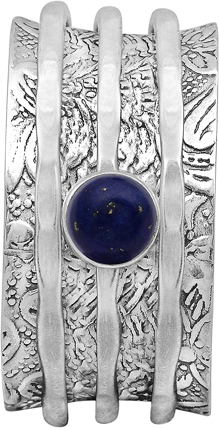 Shine Jewel Spinner Ring with Lapis Limited time cheap sale Silver Lazuli Louisville-Jefferson County Mall Sterling 925 F