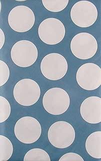 Cabana Polka Dots Vinyl Flannel Back Tablecloth (Periwinkle Blue, 60