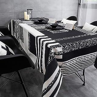 Yuanyou Tovaglia in tessuto misto nero, rettangolare, impermeabile, per matrimoni, feste, bellezza, eventi, decorazione da...