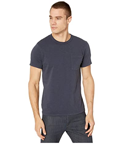 J.Crew Garment-Dyed Slub Cotton Crewneck T-Shirt (Marine Navy) Men