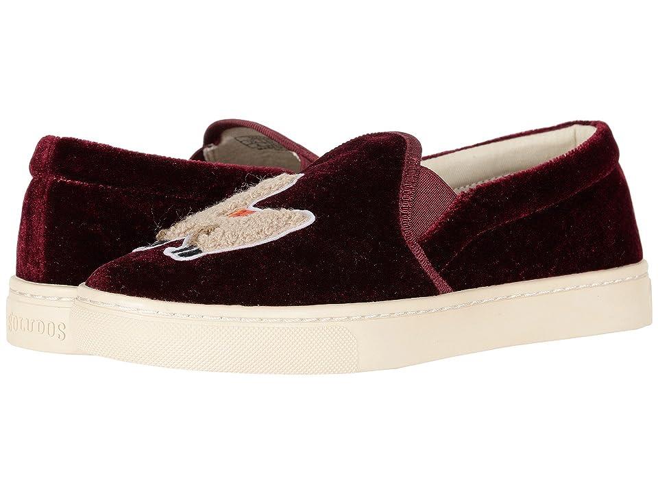 Soludos Velvet Llama Sneaker (Sangria) Women