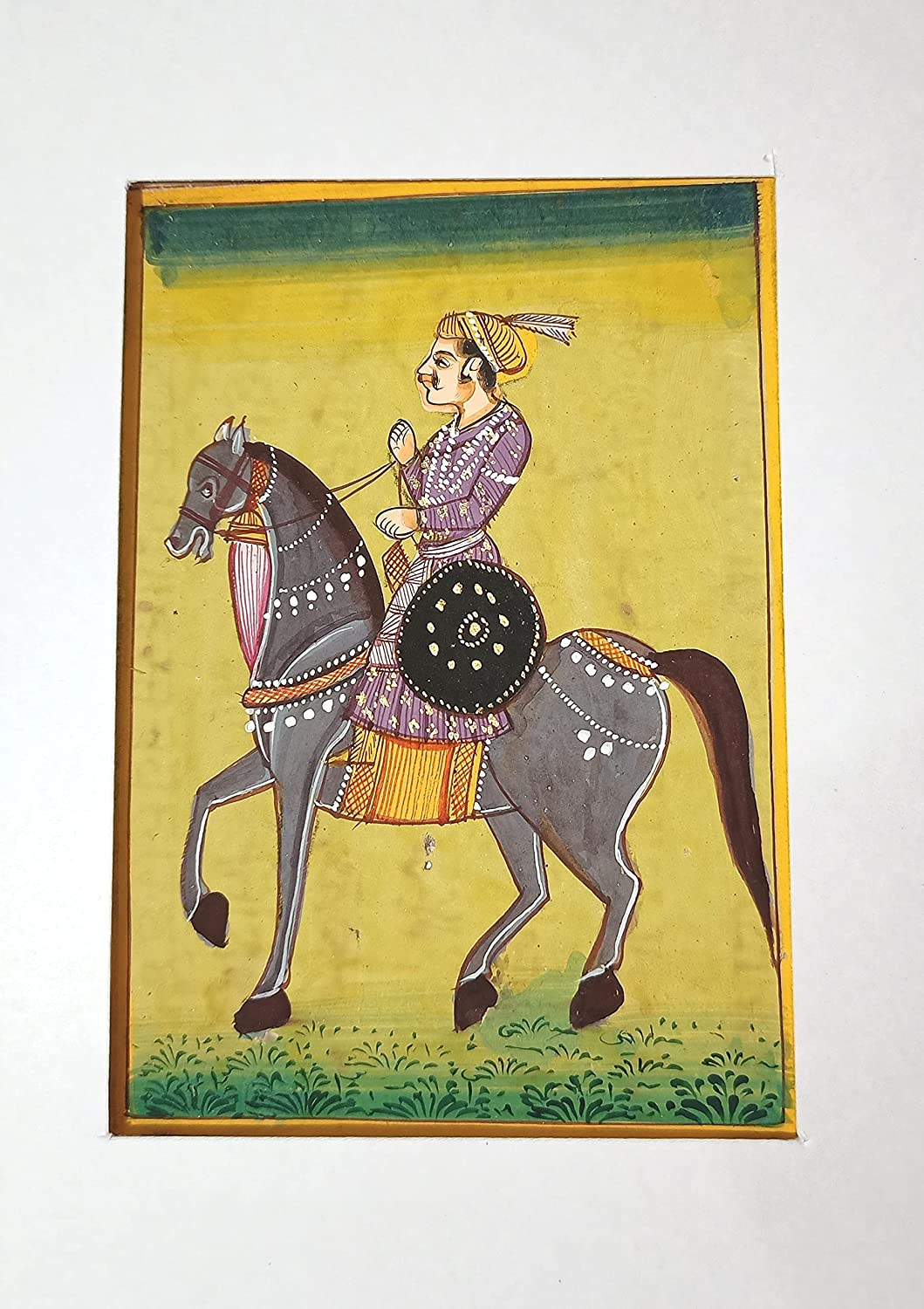 Indian Prince Riding Limited time Manufacturer regenerated product cheap sale Of His #82 Handmade Horse Favorite Painting