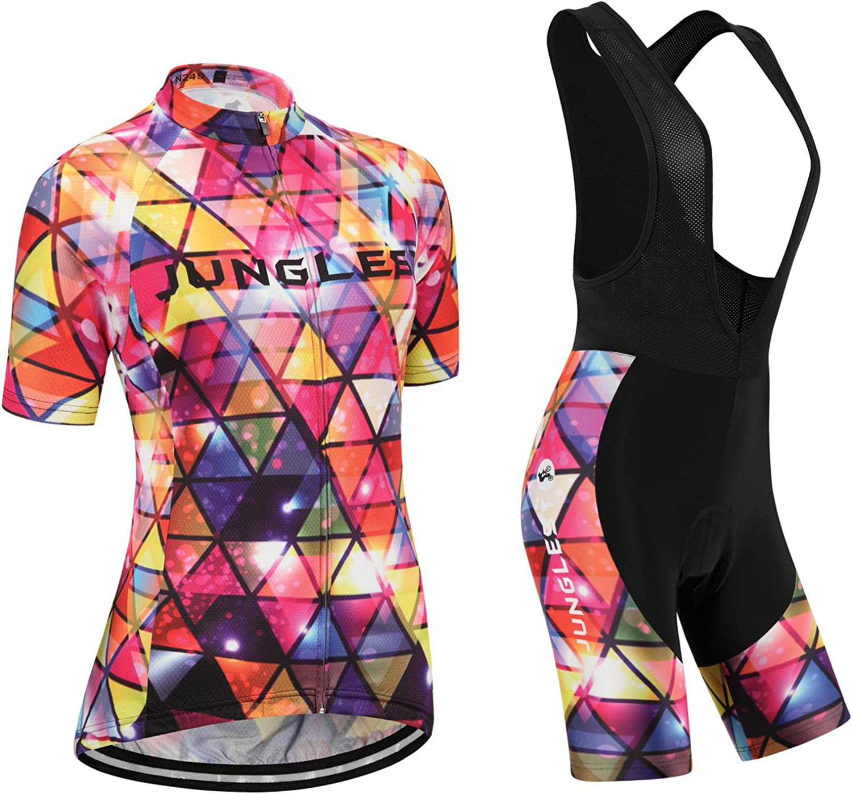 Cycling jersey Set, Maillot de Cyclisme Women Femme Short sleeve Manches Courtes(S5XL,option bib Cuissard,3D pad Coussin) N249