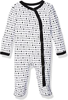 Calvin Klein baby-boys Bodysuit Unisex One-Piece, Multipack Footie