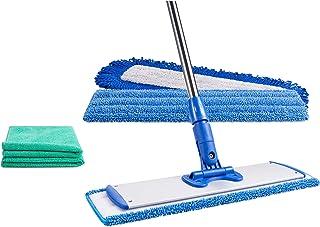 "18"" Professional Microfiber Mop | Reusable Washable Mop Pads | Wet & Dust Mopping Hardwood, Laminate, Tile, & Vinyl Floors..."