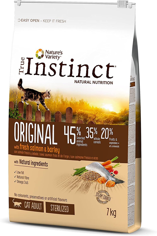 True Instinct Original - Nature's Variety - Pienso para Gato Esterilizado Adulto con Salmón - 7kg