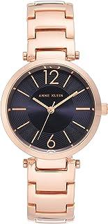 ساعة يد كوارتز بنمط عرض انالوج وسوار من الستانلس ستيل للنساء من ان كلاين، AK-3046NVRG