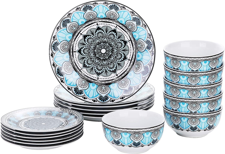 お気に入り VEWEET Dinnerware Set Porcelain Plates Kitchen Bowls セール 登場から人気沸騰 Din and