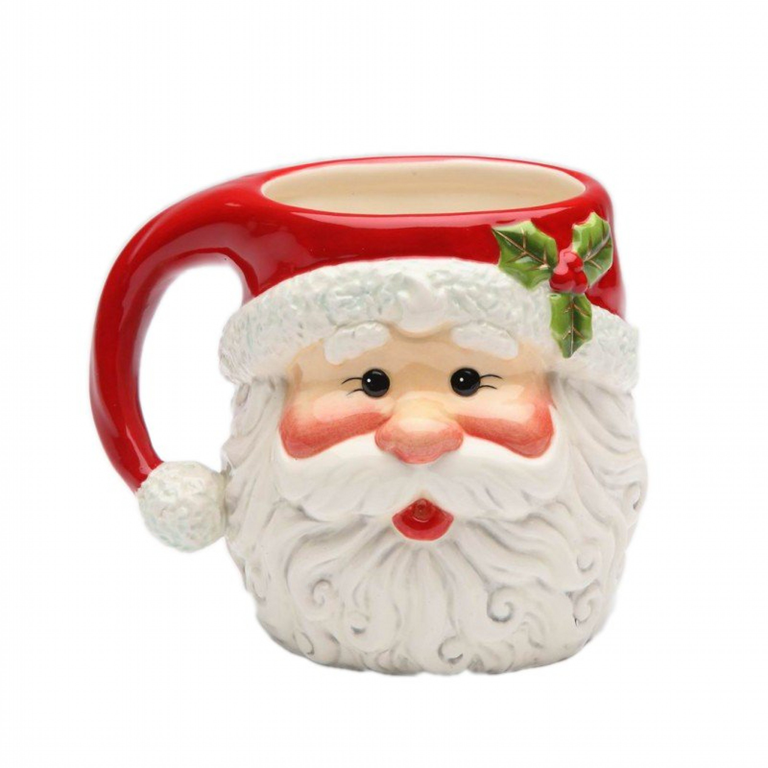 Image of Cute I Believe Christmas Santa Claus Mugs - Set of 4
