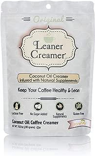 Leaner Coffee Creamer Coconut Oil Creamer, 280 Refill Pouch