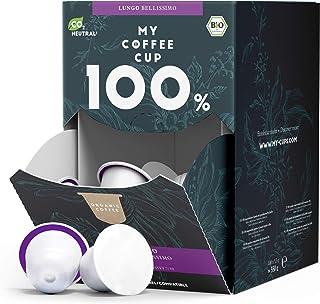 My Coffee Cup – MEGA BOX LUNGO BELLISSIMO – BIO-KAFFEE I 100 Kaffeekapseln für Nespresso³-Kapselmaschinen I 100% industriell kompostierbare Kaffeekapseln – 0% Alu I Nachhaltige Kaffeekapseln