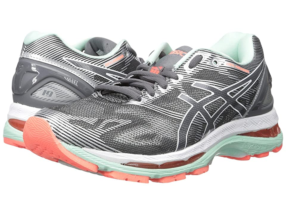ASICS GEL-Nimbus(r) 19 (Carbon/White/Flash Coral) Women
