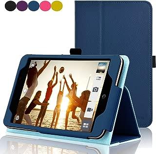 ACdream ASUS MeMO Pad 7 LTE Case, Premium PU Leather Smart Cover Case for AT&T ASUS MeMo Pad 7 LTE GoPhone Prepaid Tablet ME375CL, Dark Blue