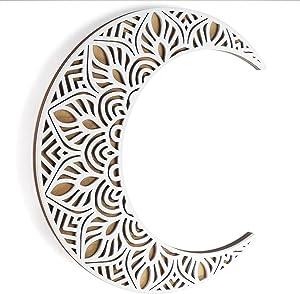 Mandala Moon Wall Decor White. Viory Moon Wall Art. 12