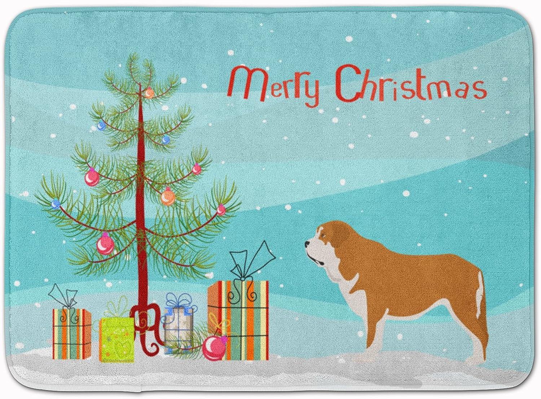 Caroline's Treasures Mastin Epanol Spanish Mastiff Christmas Floor Mat, 19hx27w, Multicolor