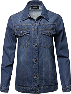 114caab4f058 Awesome21 Women's Casual Soft Shell Stretch Long Sleeves Denim Jacket