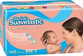 KleenBebé Pañal Desechable para Bebé Suavelastic, Unisex, Recién Nacido, 40 Cuentas