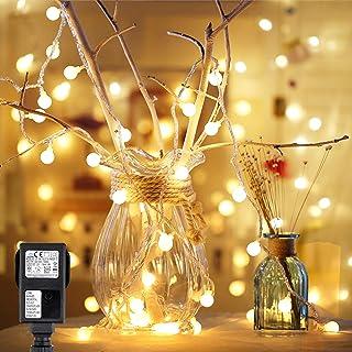 Speclux 10M 100 LED,Guirnalda de Luces, 8 Modos de Iluminación,con Enchufe, Resistente al Agua, Cadena de Luces Exterior/I...