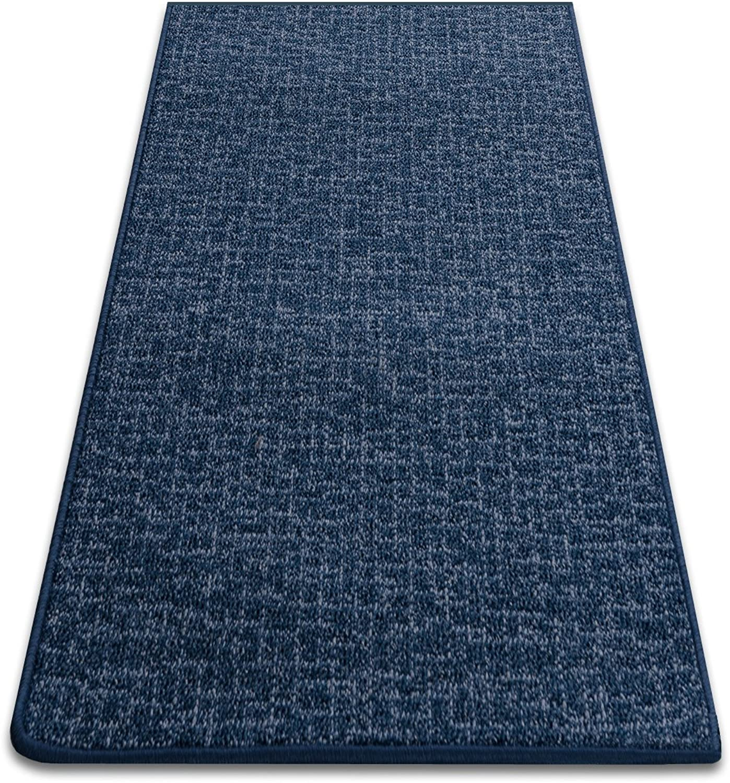 Meisterei Teppichläufer Bermuda blau Teppich Brücke Läufer 70 cm breit robust und unempfindlich 70 x 450 cm B00I8PQ2TW