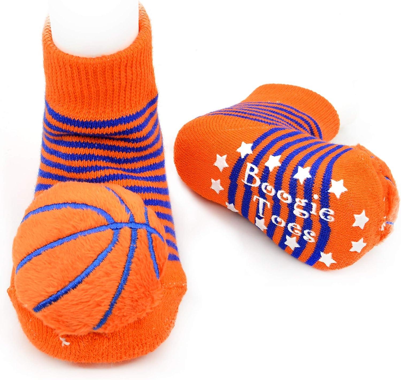 Basketball Boogie Toes Rattle Socks, 1 Pair