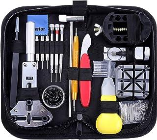 Vastar Kit de Réparation de Montre, Ensemble d'outils de Barre de Ressort Professionnel de Réparation de Montre, Ensemble ...
