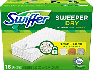Swiffer Sweeper Dry Cloth Refill-Lavender Vanilla & Comfort-16 count (2 Pack)