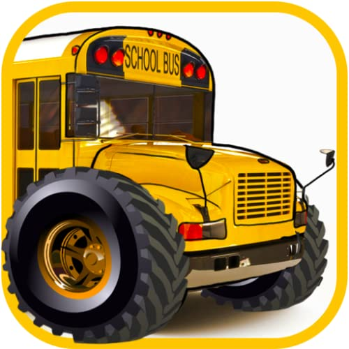 Monster truck school bus driving games for kids: Traffic racing simulator in the city