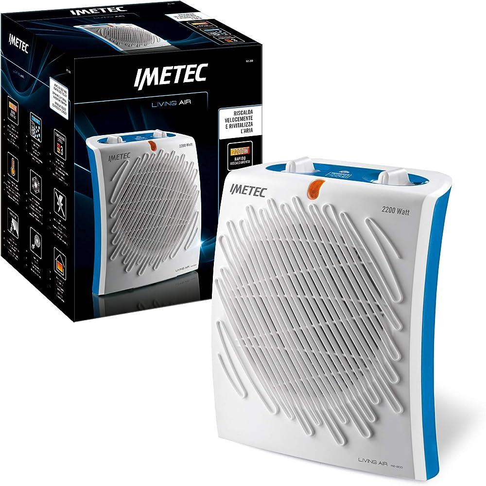 Imetec living air termoventilatore con ionizzatore, 2200 w 4902E