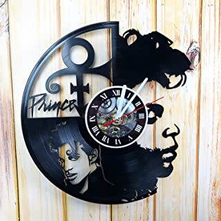 KravchArt Prince Vinyl Wall Clock – Handmade Gift for Any Occasion – Unique Birthday, Wedding, Anniversary, Wall décor - Leave A Feedback and Win A Clock