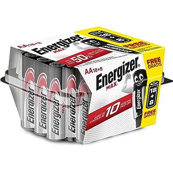 Energizer - Pack de 26 pilas alcalinas MAX LR6 AA, 50% más de ...