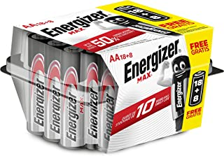 Energizer Alkaline Max - Pack de 18+8 pilas Alcalinas MAX AA