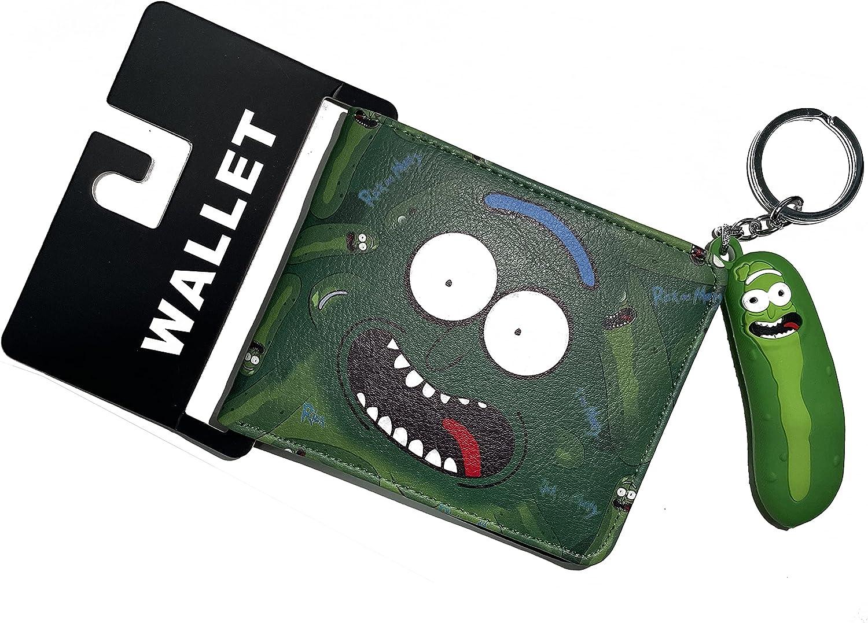 LMPIYVON Rick and Morty Cartoon Card Case Waterproof Wallet PU Artificial Leather Bi-fold Wallet