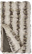 Donna Salyers' Fabulous-Furs Couture Collection Truffle Chinchilla Faux Fur Throws (60x86 in) (Truffle Chinchilla)
